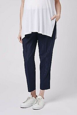 Topshop Maternity Pinstripe Trousers Size 8
