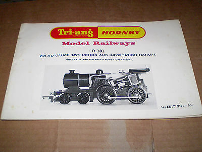 TRIANG/HORNBY MODEL RAILWAYS 1960,s R282 INSTRUCTION BOOK EXCELLENT FOR AGE