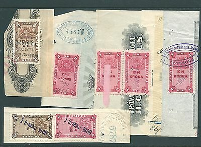 SWEDEN - Collection of vintage Fiscal/Revenue stamps
