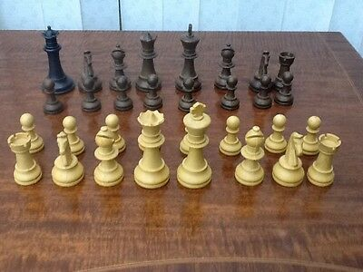 Set Of Chess Pieces Largest 9cm Tall One Substitute Piece