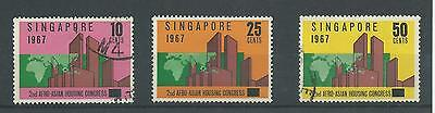 Singapore - 1967 - SG95 To SG97 - CV £ 2.40 - used - 2nd Afro-Asian Housing
