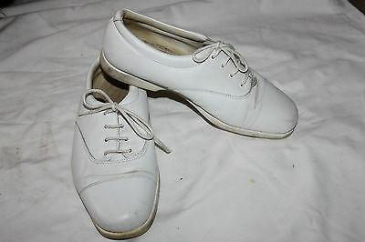 Ladies White LAce Up Shoes Size 7 Casual Trainers Pumps