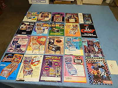 Pinball Advertising Flyers - Gottlieb - group of 20 (F)