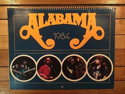 1984 Alabama Calendar- Country Music Band Wall Calendar Pictures Live Concerts