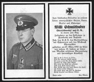 orig. German Wehrmacht WW2 DEATH CARD - Battle of Moscow 1941 - TOP PHOTO