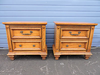 Pair of  Vintage Mid Century Modern Nightstands End Tables   6543