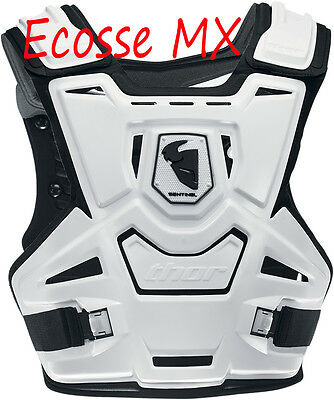 THOR Sentinel Body Armour Chest Protector Motocross MX Adult White Black
