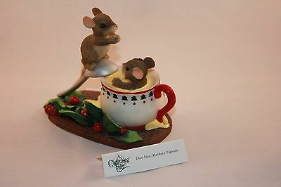Charming Tails  Dive Into...Holidays  Mice and Eggnog Cup - 87/208