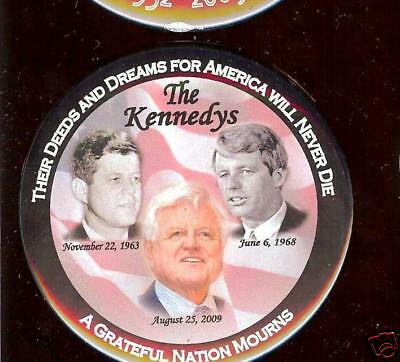 2009 TED KENNEDY PIN Memory John Robert