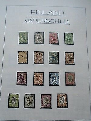 Classic Lot Suomi Finland Finnland Coat Of Arms Vf Used Good Quality Start 0.99$