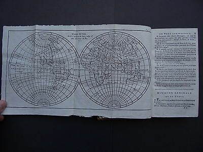 1803  Buffier Atlas GEOGRAPHIE UNIVERSELLE + VAUGONDY 1750 MAPS