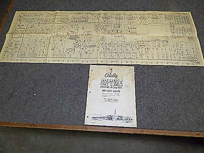 1954 Bally BIG TIME Bingo Operating Instructions Manual & Schematic