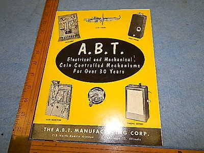 1950 A.B.T. Manufacturing Parts and Supplies Catalogue - 26 pages