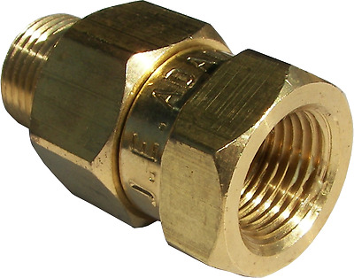"""Pressure Washer 3/8"""" NPT In Line Straight Swivel Connector / Adapter Fitting"""