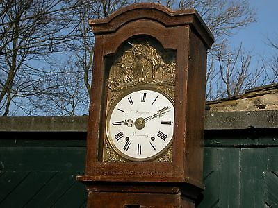 Superb French Comtoise 8-Day Country Longcase Clock