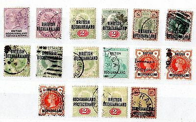 British Bechuanaland QV Collection of 16 Values Fine Used X5513