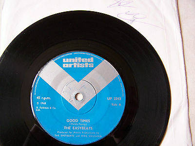 Easybeats - Good Times / Lay Me Down And Die  ** Autograph **
