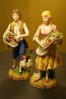 VTG Pair HOMCO HOME INTERIOR English Country Young Couple Porcelain Figurines