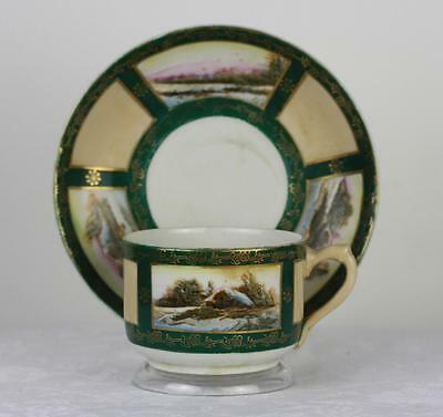 Antique Russian Soviet Porcelain Art Deco Tea Cup by Proletariy fact 1927 #4
