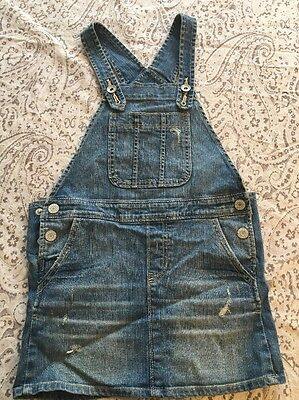 kids gap girls Distressed Jumper Jean Skirt Overall Size small 6/7