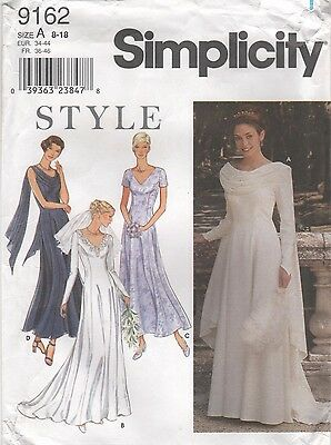 *Simplicity 9162 Wedding GOWN Bridesmaid Dress Sewing Pattern Uncut Size 8 to 18