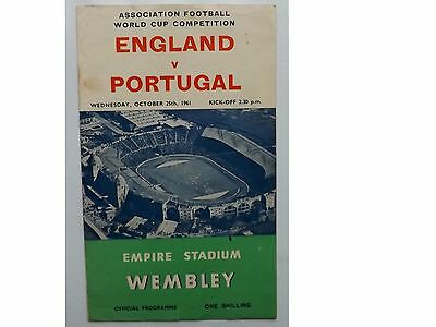 WEMBLEY ENGLAND vPORTUGAL  1971 WORLD CUP PROGRAMME
