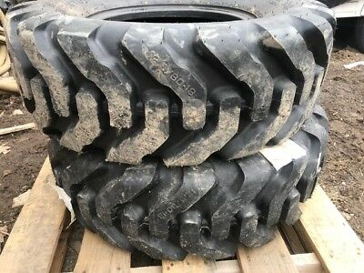 2 NEW 12.5/80-18 American Contractor Terra Bar Tires R4 10 ply tubeless