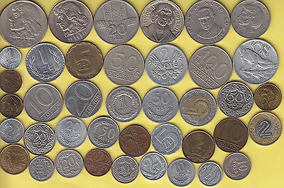 Poland  large lot of 40 coins, all different   .......................48