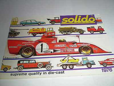 Solido Toy Catalogue 1976 Uk Excellent Condition For Age