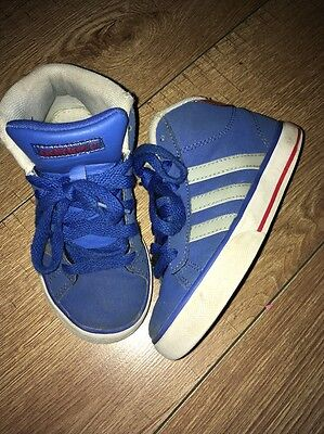 Adidas High Top Trainers Blue Uk 11 Boys