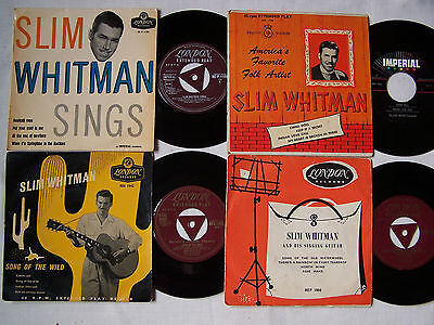 """Collection Of Slim Whitman  7""""  4 Track Eps * Some Rare ** Gold London Tri **"""