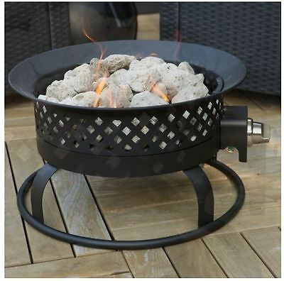 Patio Fire Pit Outdoor Gas Fireplace Portable Campfire Camp Propane Heater Cover