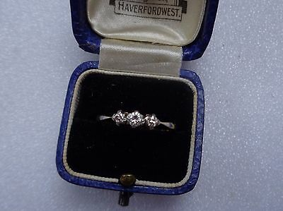 Victorian 18ct gold and platinum stone diamond ring  Size N
