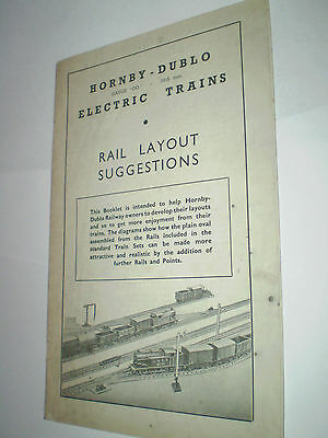 Hornby Dublo Model Railways Rail Layouts 1951 Uk Edition Near Excellent For Age