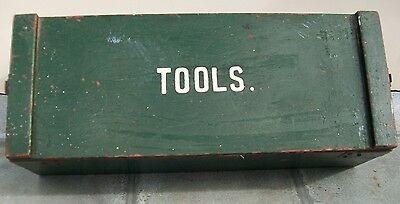 A Vintage Retro Wooden Toolbox  Ideal Man Cave Display Items Etc