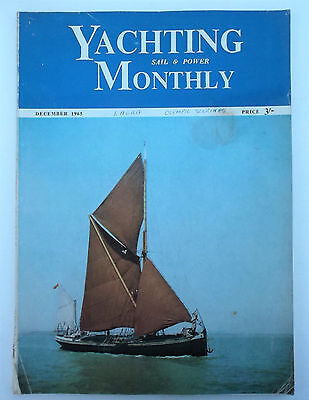 Vintage Yachting Monthly magazine December 1965 sailing barge cover, Rustler 31