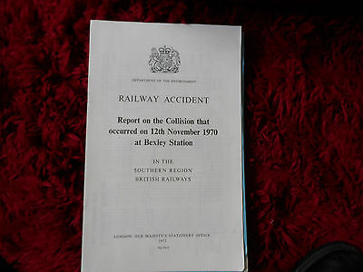 Railway Accident Report Collision Bexley Station Nov 1970