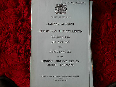 Railway Accident Report Collision Kings Langley April 1963