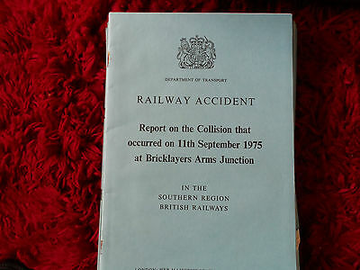 Railway Accident Report Collision Bricklayers Arms Sept 1975