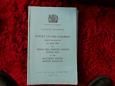 Railway Accident Report Collision Herne Hill April 1960