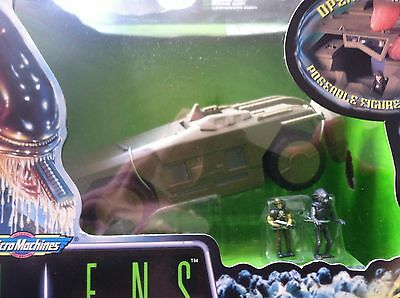 Vintage Aliens Action Fleet- Micro-Machines- Apc With Hudson And Warrior Alien