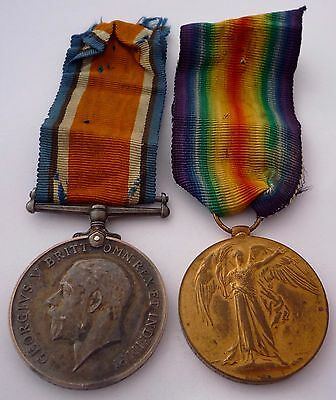 Ww1 British War & Victory Medal Pair - King's Royal Rifle Corps