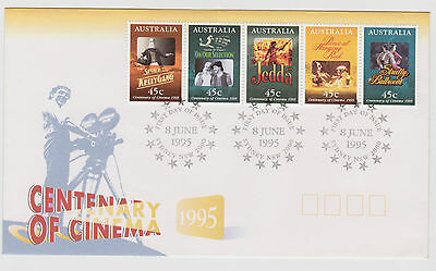 Stamps Australia FDC 1995 Centenary of Cinema Excellent condition