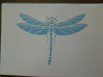 Large Dragonfly Reusable Mylar Stencil Airbrush Art Craft Crafting Wall Stencil