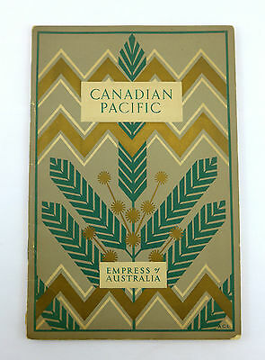 1930 Canadian Pacific Steamship Empress of Australia Booklet To Quebec