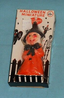 vintage Halloween CAPRI CANDLE WITCH in original box
