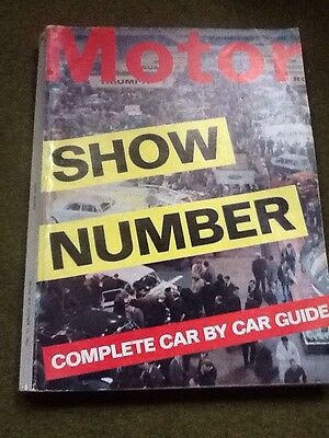 'MOTOR' magazine: SHOW NUMBER COMPLETE CAR BY CAR GUIDE 1965