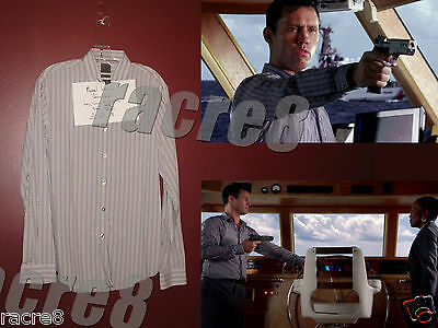 Burn Notice: Michael Westen's S6 Finale Long Sleeve Dress Shirt. Jeffrey Donovan