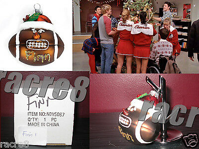 "Cory Monteith. Glee TV: Finn's Football Ornament from ""A Very Glee Christmas"""