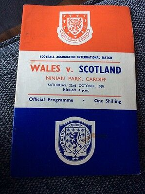 Wales v Scotland 1960 Home International Programme